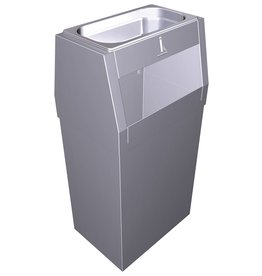 Combination ashtray and garbage bin