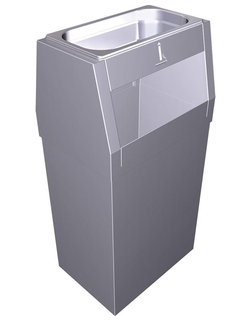 Combination ashtray and garbage bin