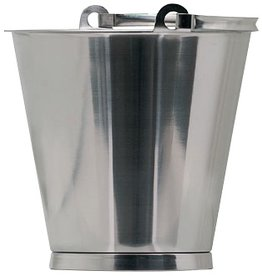 Bucket in stainless steel
