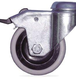Wieltje met rem Ø 125 mm