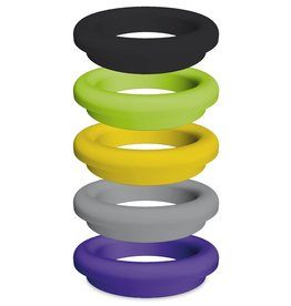 Colored ring in synthetic material for waste chuting