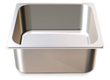 Gastronorm containers in stainless steel
