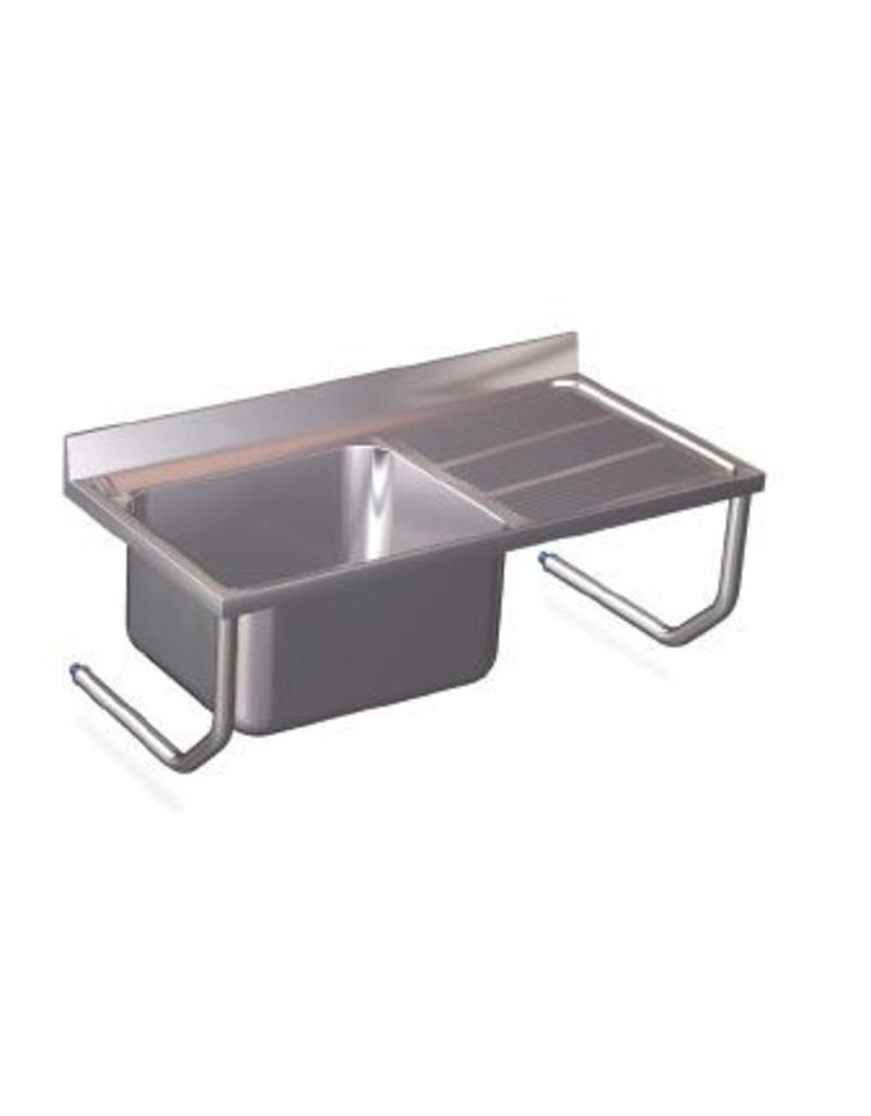 2 Sinks Wall mounting with two drain boards