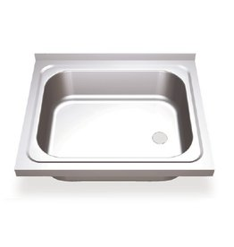 Sink with hinged doors