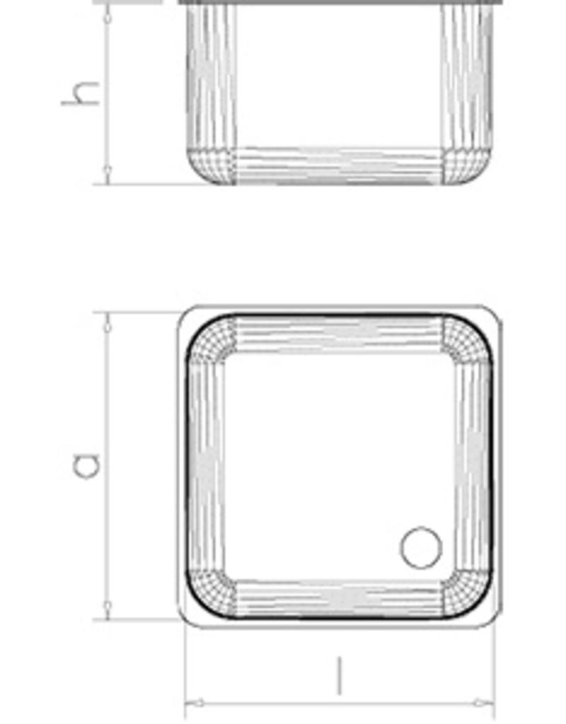 Dubbele spoelbak met afdruipplaat links en draaideuren