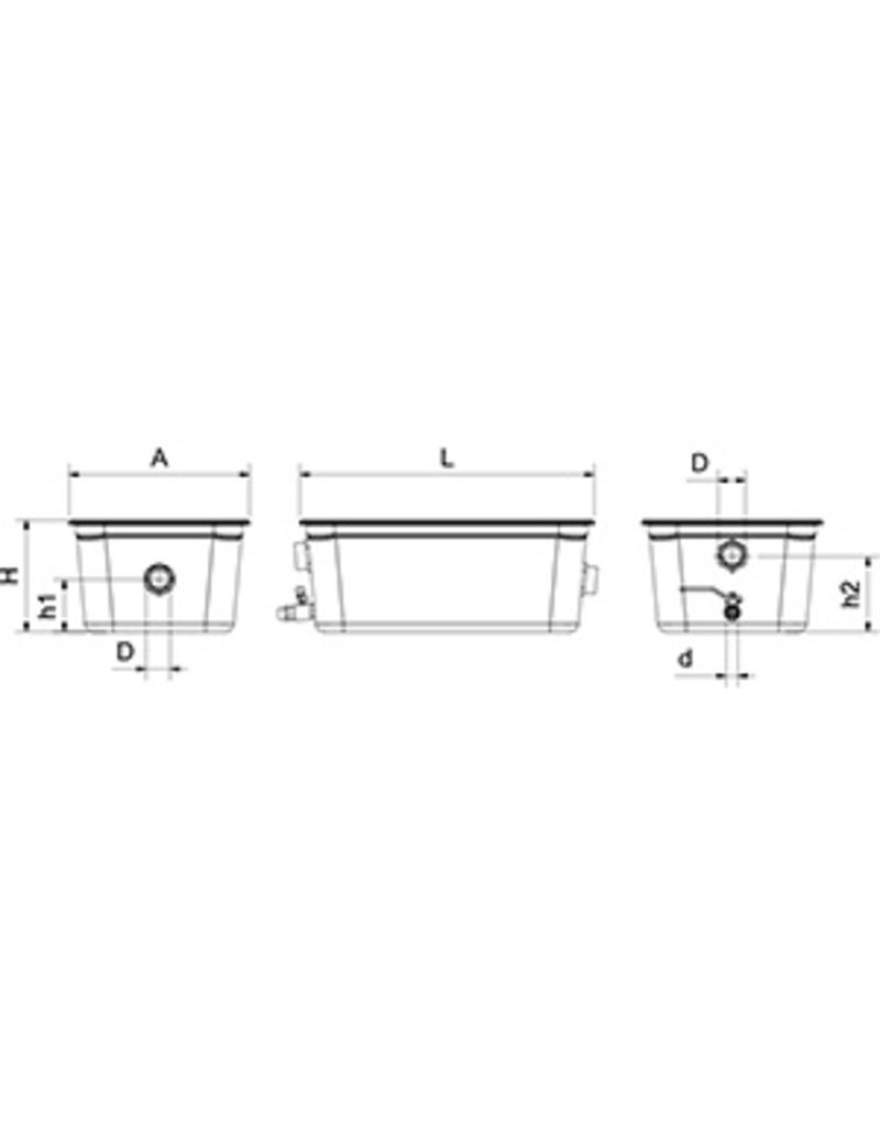 Grease Trap In Stainless Steel Inox Rvs For Food Industry Diagram 2 Under The Sink