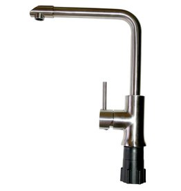 Stainless steel tap with single inlet