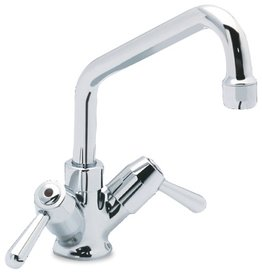 Mixing tap with 1/4-turn