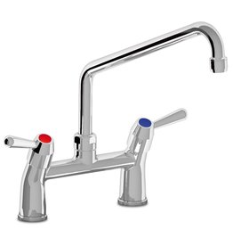 Tap with two handles