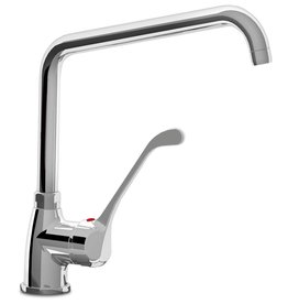 Mixing tap with long operationarm