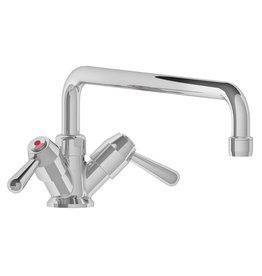 Low tap with double inlet