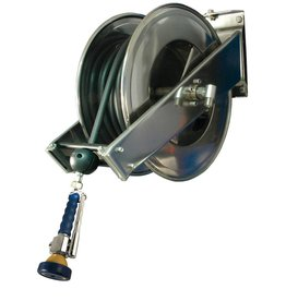 Hose reel in stainless steel