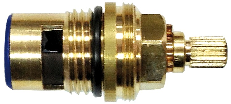 Cartridge for shower tap support with spout