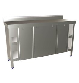 Wall table with sliding doors