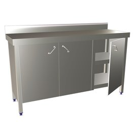 Wall table with hinged doors