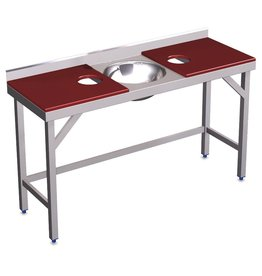 Double preparation table with sink