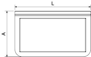 Accessoire: Gastronorm hanger 1/3 en 1/6