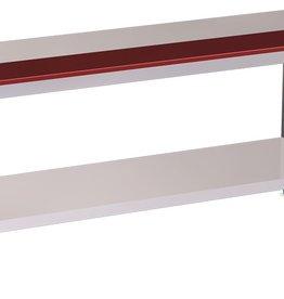 Tafel met half werkblad polyethyleen en legbord