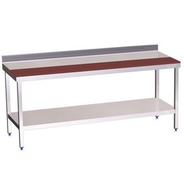 Wall table half worktop in polyethylene with shelf