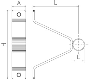 Bridge support for pipes without back