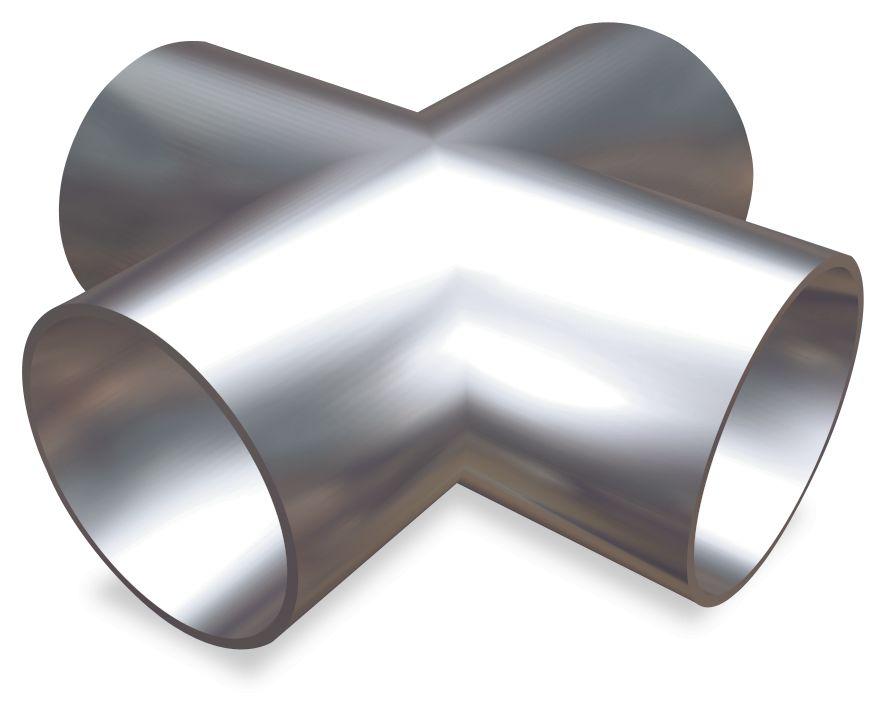 Cross-shaped tube