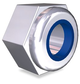 Hexagonal nut with lock