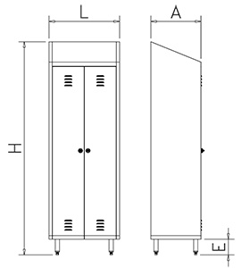 Cupboard for cleaning products - two doors