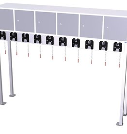 Trolley parking with lockers