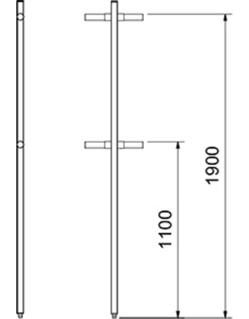 Geperforeerde kolom van cilinder - hoek