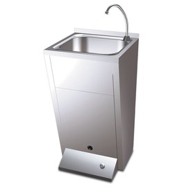 Standard hand basin - with button foot operated