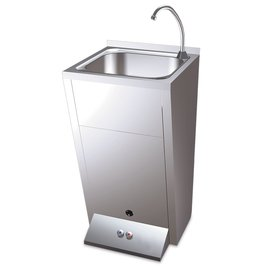 Standard hand basin - with two buttons foot operated