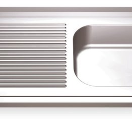 Sink Units Rectangular with left drainboard