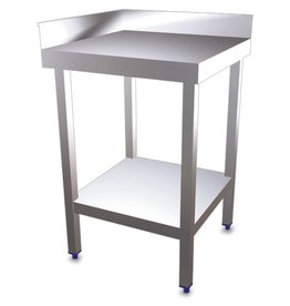 Corner table with shelf