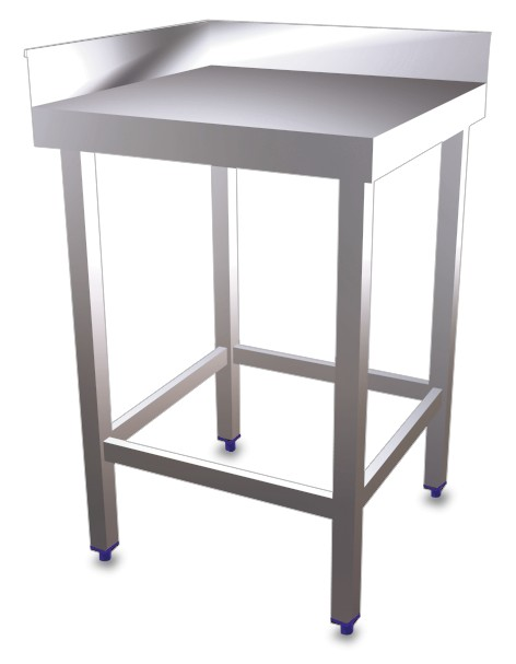 Corner table without shelf