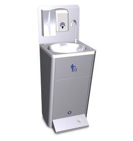 Mobiele handwasbak met vuilbakje