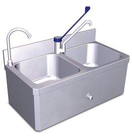 Handwasbak en spoeltafel set XS