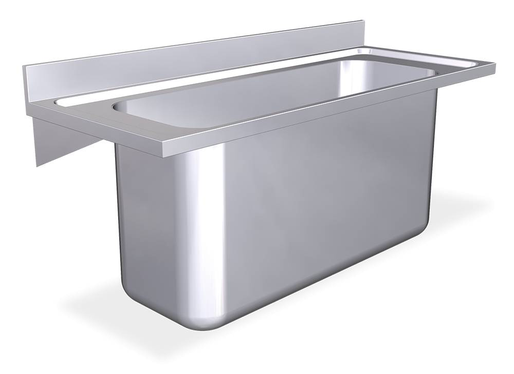 Wall Mounted Inox Sink With Brackets Inox Rvs For Food