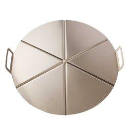 Pizza aluminium tray with handgrips