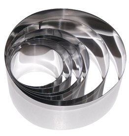 Ring mold set in stainless steel - 6 pieces