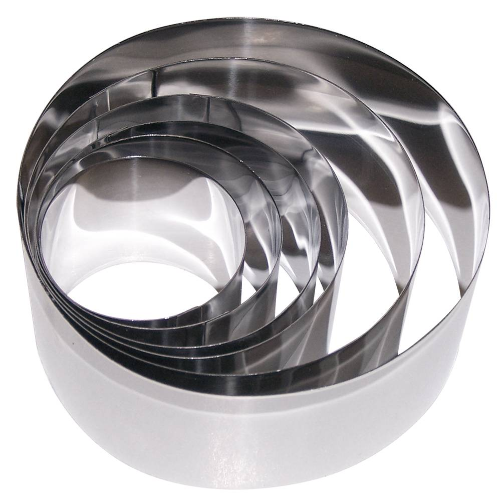 Ring Mold Set In Stainless Steel 6 Pieces Inox Rvs For