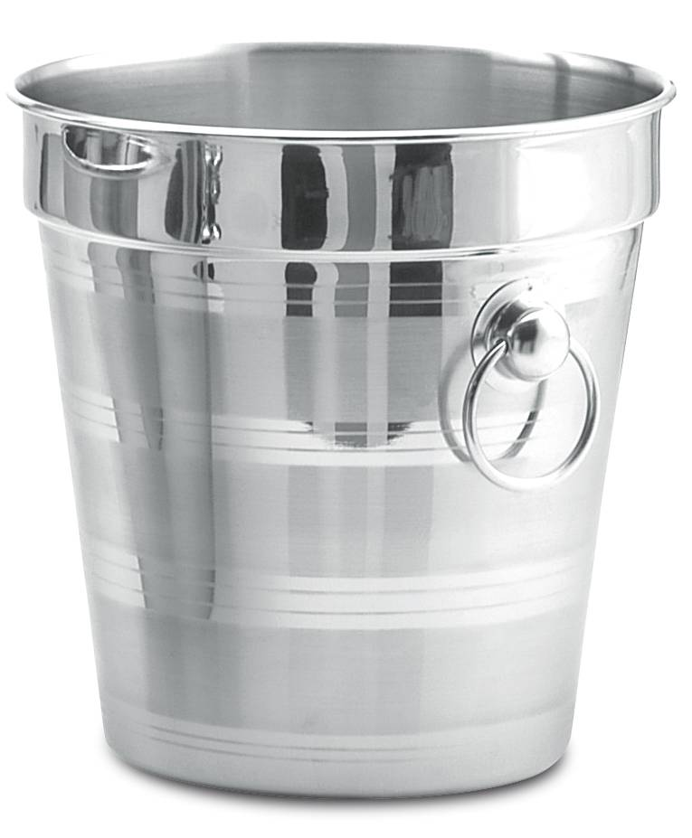 Champagne cooler bucket in stainless steel