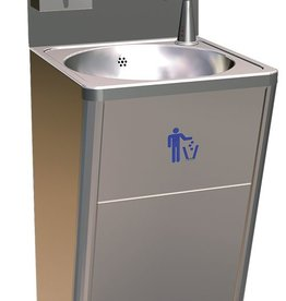Standard hand wash basin with dispensers with sensor
