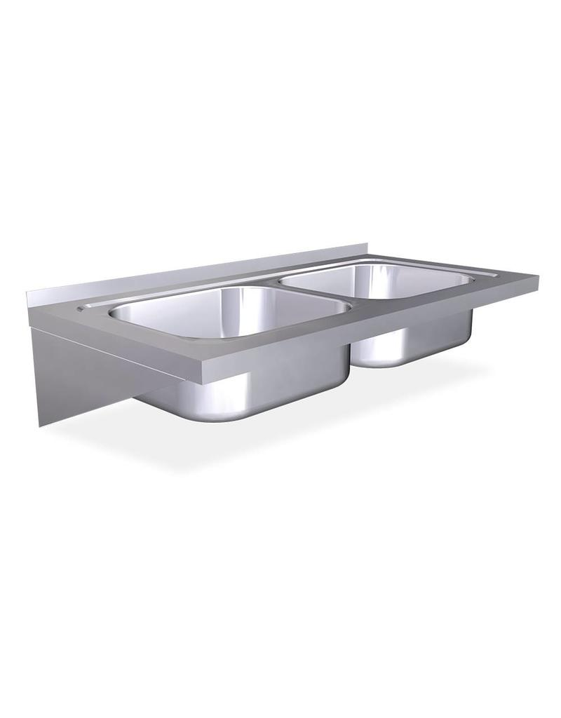 Wall mounted  double sink with brackets - Copy
