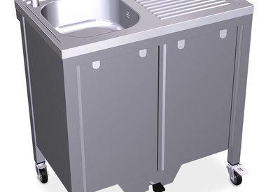 Autonomously working sink