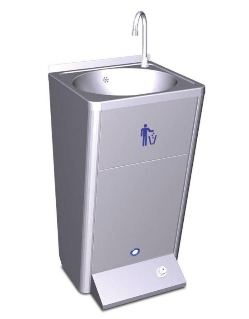 Mobiele wasbak met ingebouwde watertank - zonder spatplaat - koud water 220v 60w.