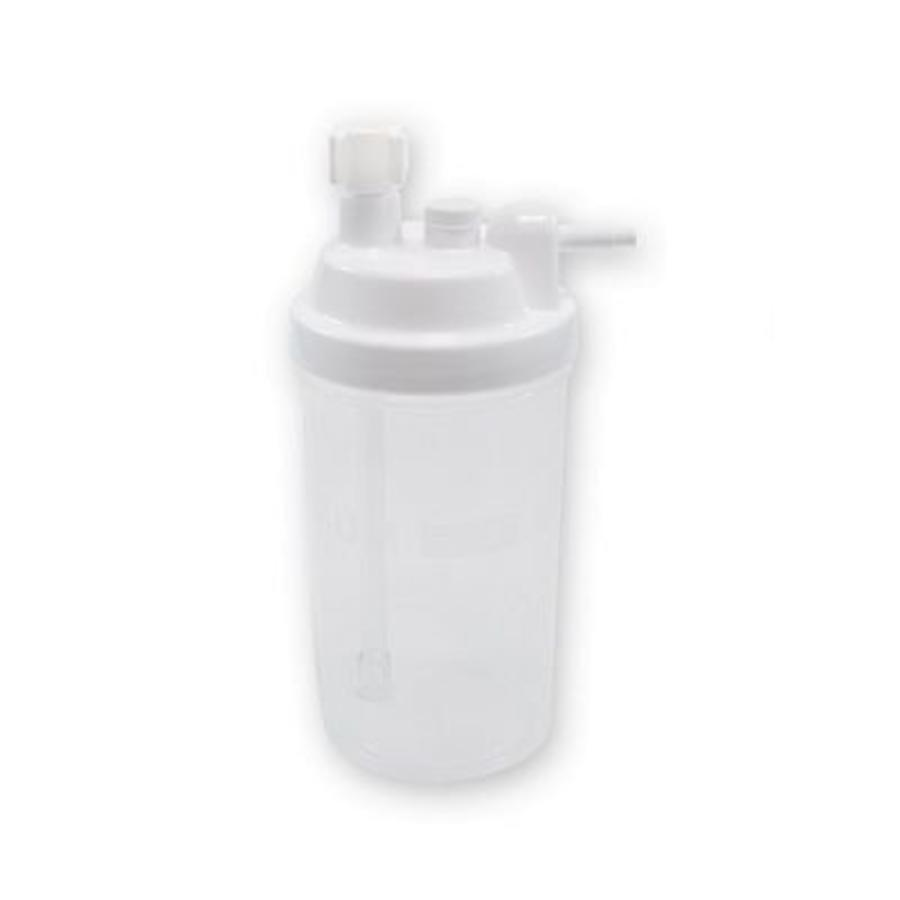 Reusable humidifier bottle for stationary oxygen concentrator