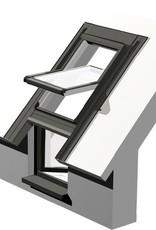 Intura - Dak/gevelraam kunststof KPVCP-R3 draai-kantelraam rechtsdraaiend