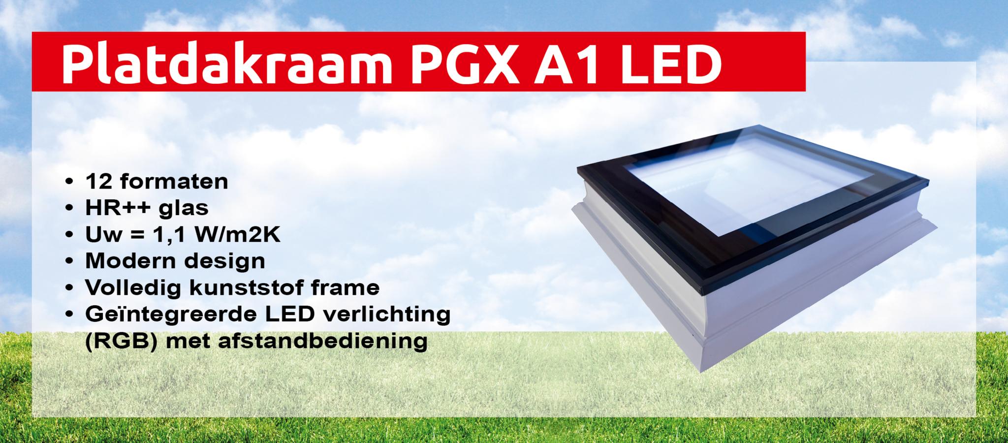 Platdakraam PGX A1 met ingebouwde RGB led verlichting - Intura ...
