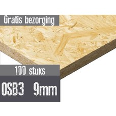 OSB plaat 3 122 x 244cm 9mm rechtkantig 100 stuks