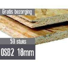 OSB plaat 122 x 244cm 18mm mes en groef 50stuks
